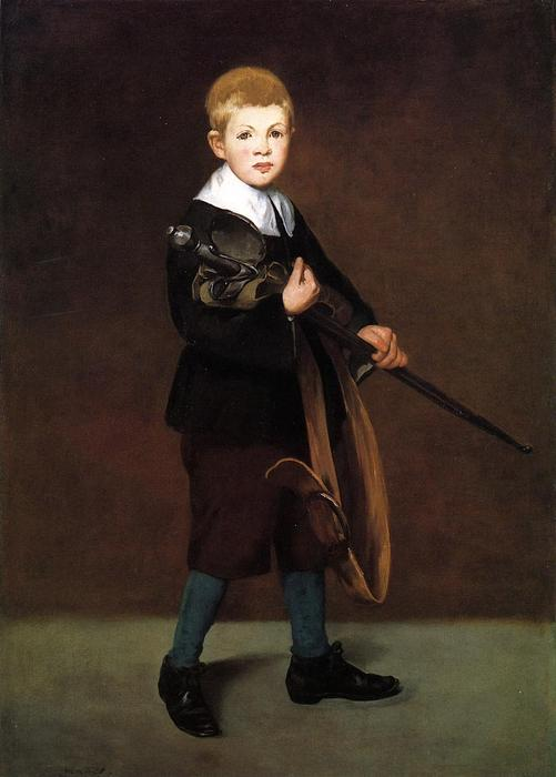 famous painting Boy with a sword of Edouard Manet