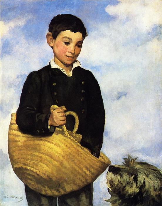 famous painting Boy with Dog of Edouard Manet