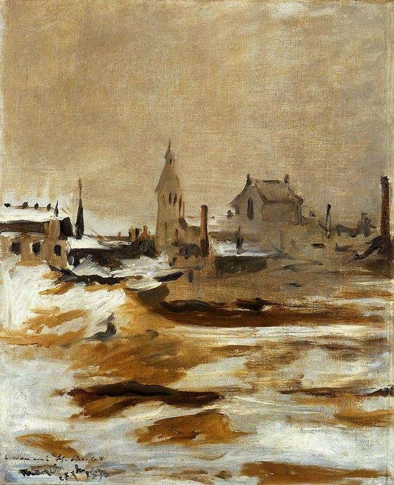 famous painting Effect of Snow at Petit-Montrouge of Edouard Manet