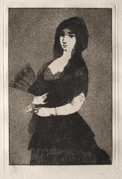 famous painting Exotic Flower (Fleur exotique) of Edouard Manet