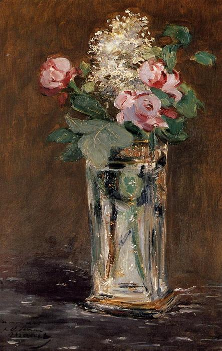 famous painting Flowers in a Crystal Vase of Edouard Manet