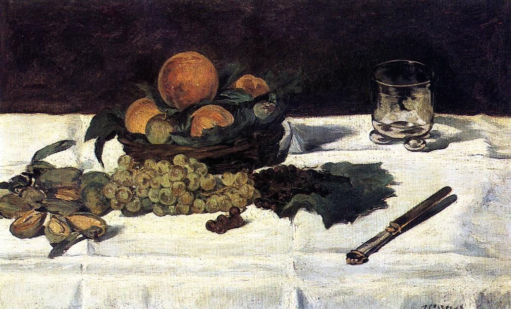 famous painting Fruit on a Table of Edouard Manet