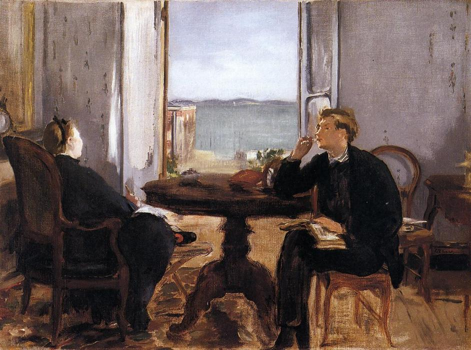 famous painting Interior at Arcachon of Edouard Manet