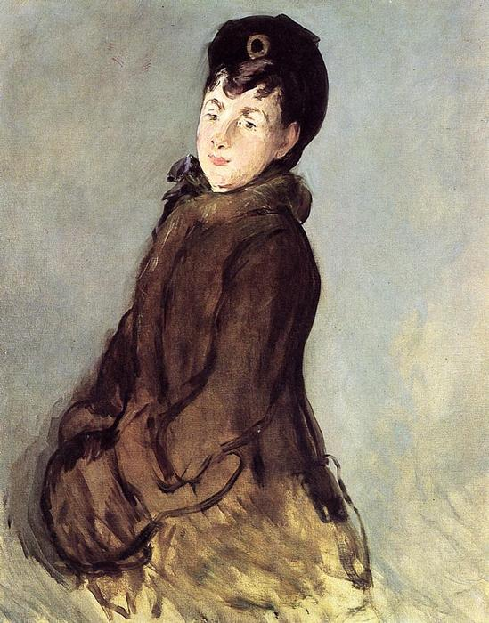 famous painting Isabelle Lemonnier with Muff of Edouard Manet