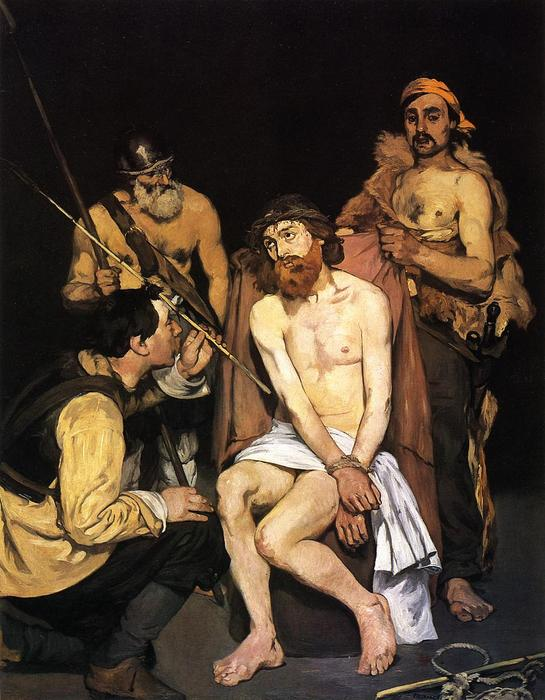 famous painting Jesus mocked by the Soldiers of Edouard Manet