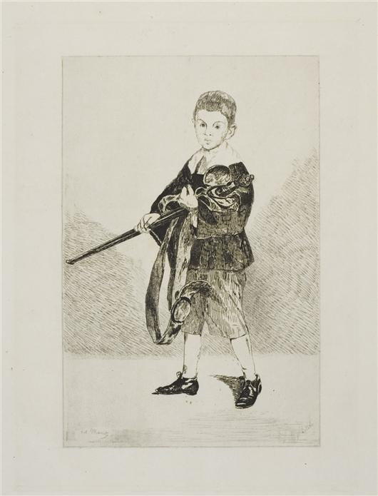 famous painting L'enfant a l'epee of Edouard Manet