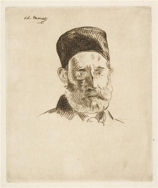 famous painting M. Manet Pere of Edouard Manet