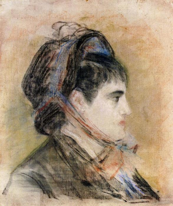 famous painting Madame Jeanne Martin in a bonnet of Edouard Manet