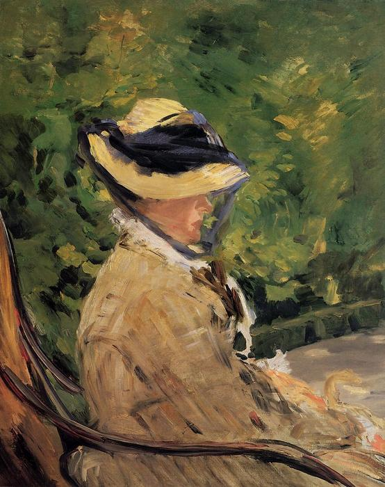 famous painting Madame Manet at Bellevue of Edouard Manet