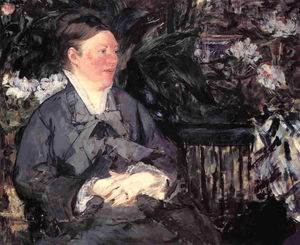 Edouard Manet - Madame Manet in the Conservatory