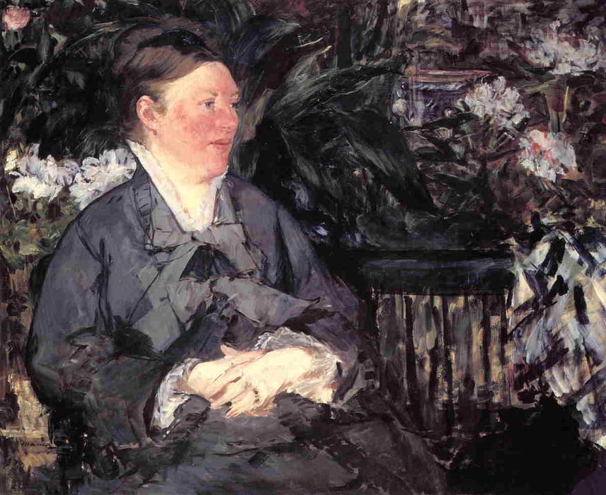 famous painting Madame Manet in the Conservatory of Edouard Manet