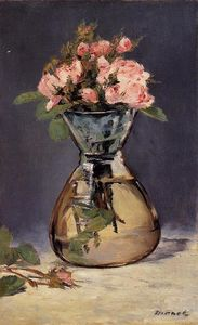 Edouard Manet - Mosee Roses in a Vase