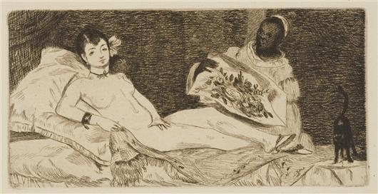 famous painting Olympia 1 of Edouard Manet