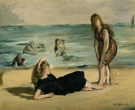 famous painting On the Beach 1 of Edouard Manet