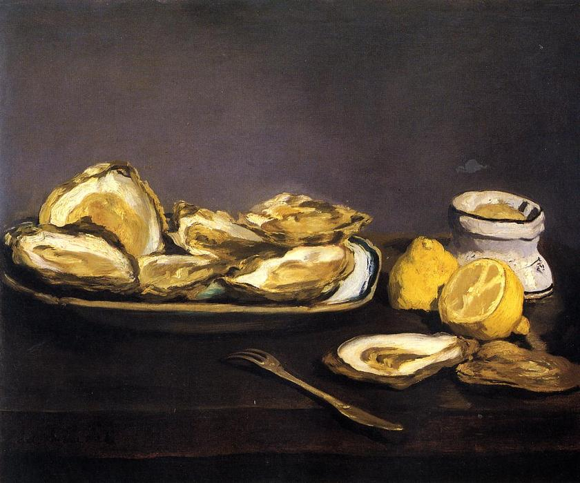 famous painting Oysters of Edouard Manet