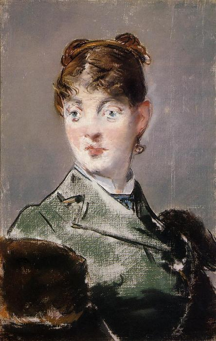 famous painting Parisienne, Portrait of Madame Jules Guillemet of Edouard Manet