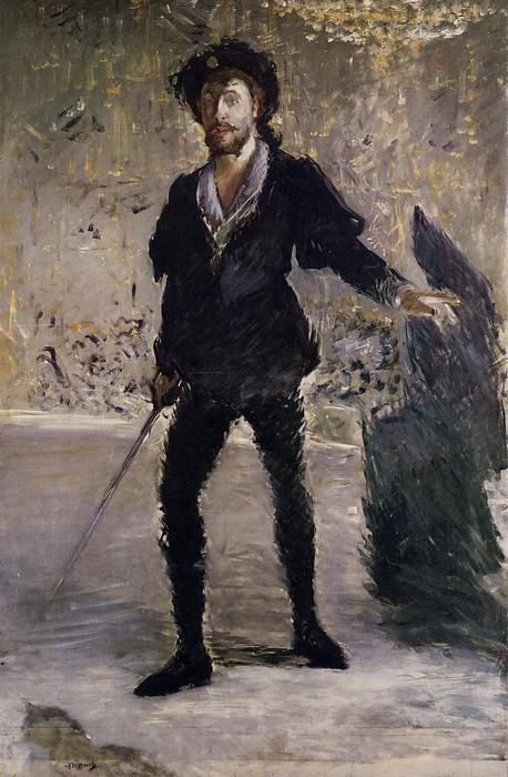 famous painting Portrait of Faure as Hamlet of Edouard Manet