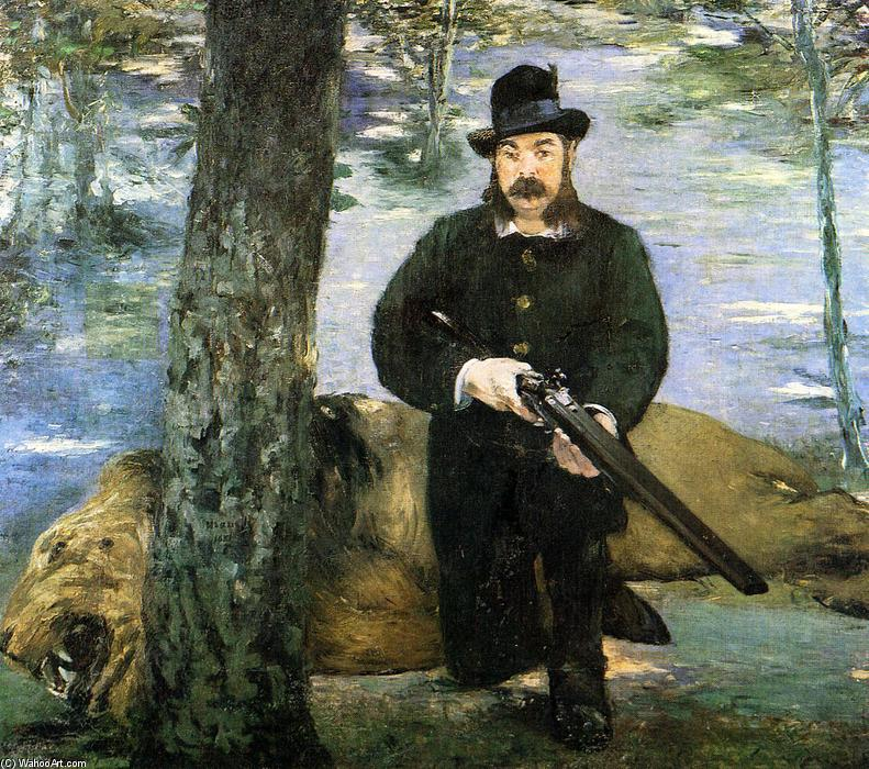 famous painting Portrait of M. Pertuiset, the Lion Hunter of Edouard Manet