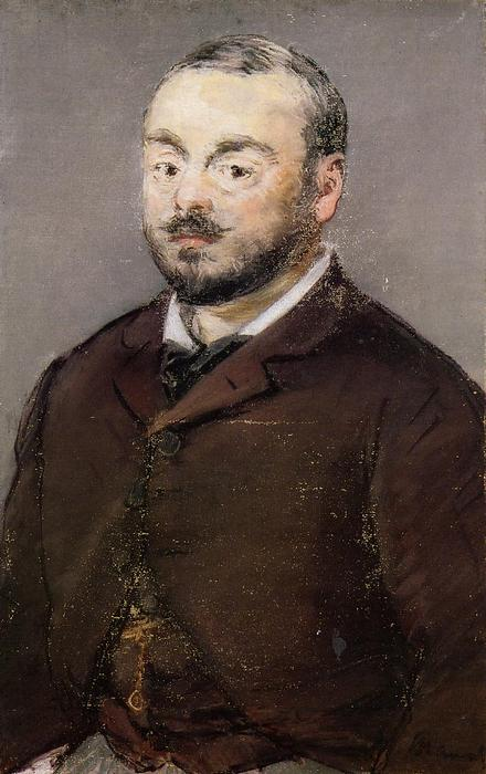 famous painting Portrait of the Composer Emmanual Chabrier of Edouard Manet