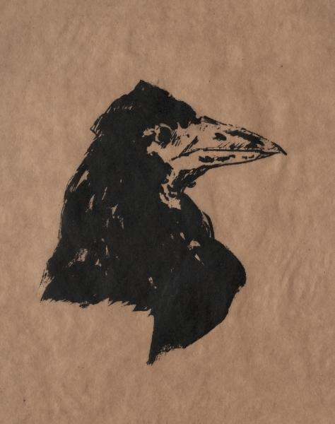 famous painting Raven Head of Edouard Manet