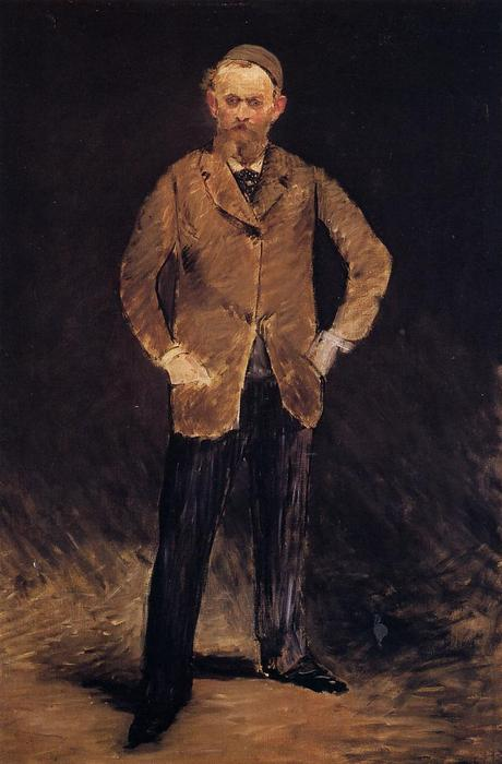 famous painting Self-portrait with skull-cap of Edouard Manet