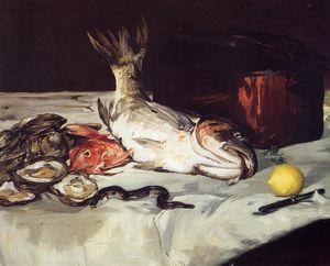 Edouard Manet - Still Life with Fish