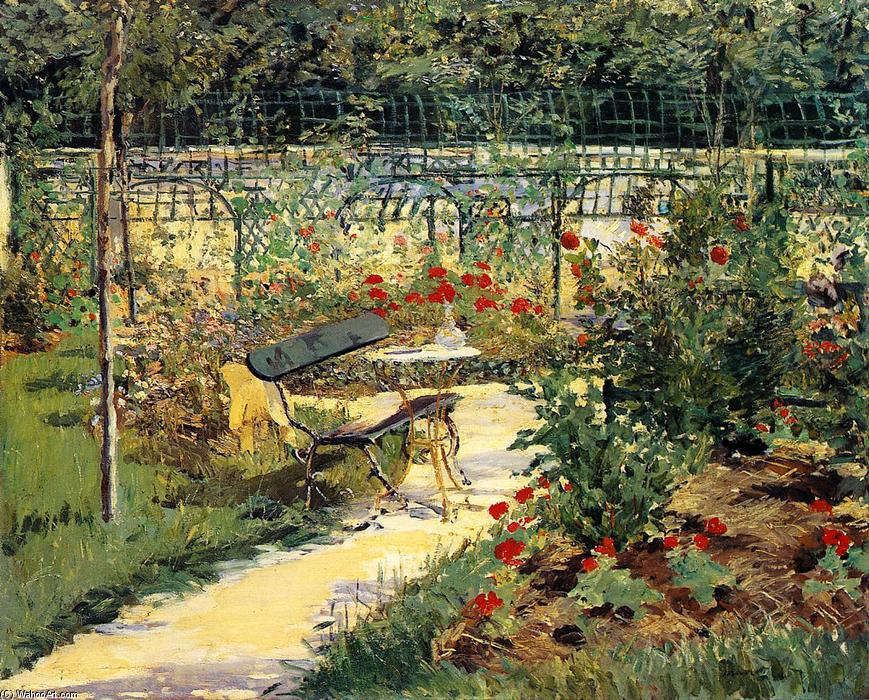 famous painting The Bench (aka My Garden) of Edouard Manet