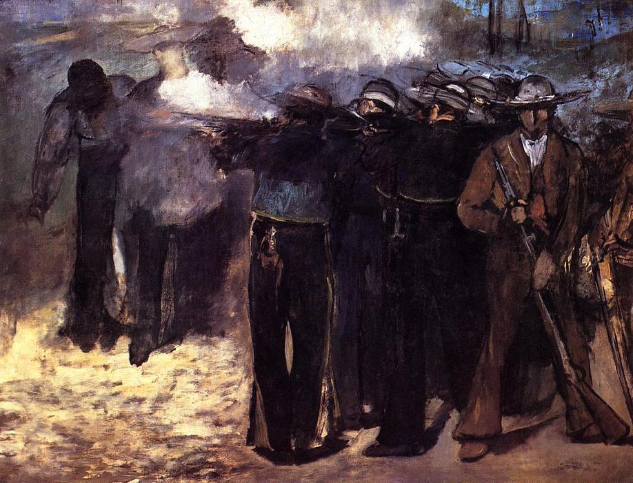 famous painting The Execution of the Emperor Maximilian of Edouard Manet