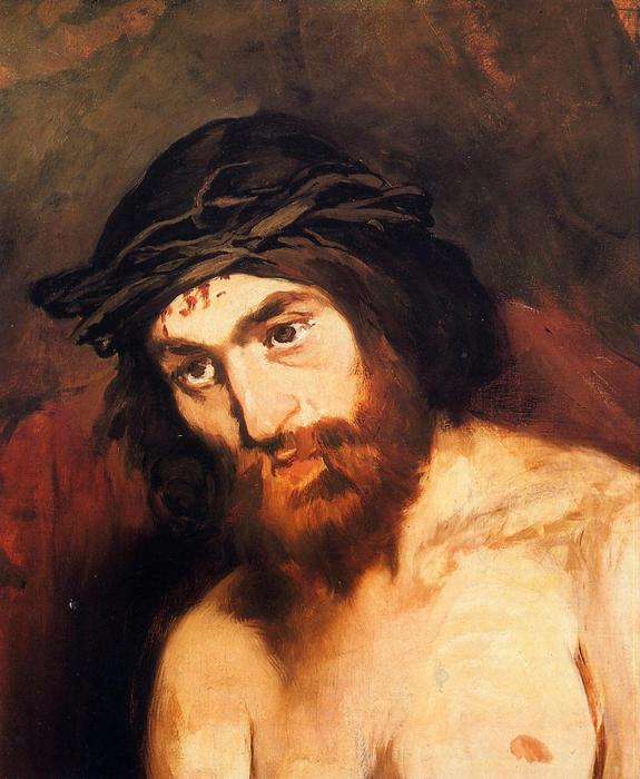 famous painting The head of Christ of Edouard Manet