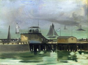 Edouard Manet - The Jetty at Boulogne