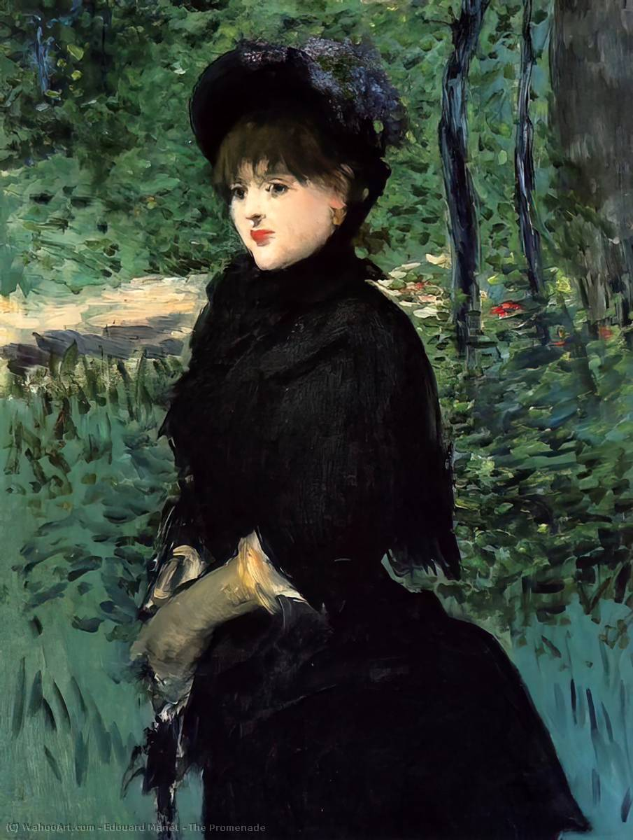 famous painting The Promenade of Edouard Manet