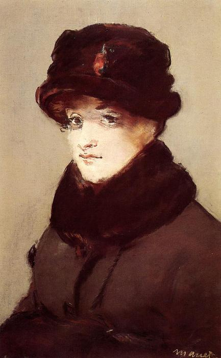 famous painting Woman in furs (Portrait of Mery Laurent) of Edouard Manet