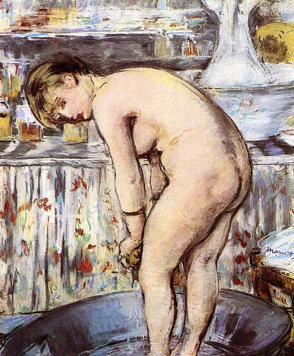 famous painting Woman in the Tub of Edouard Manet