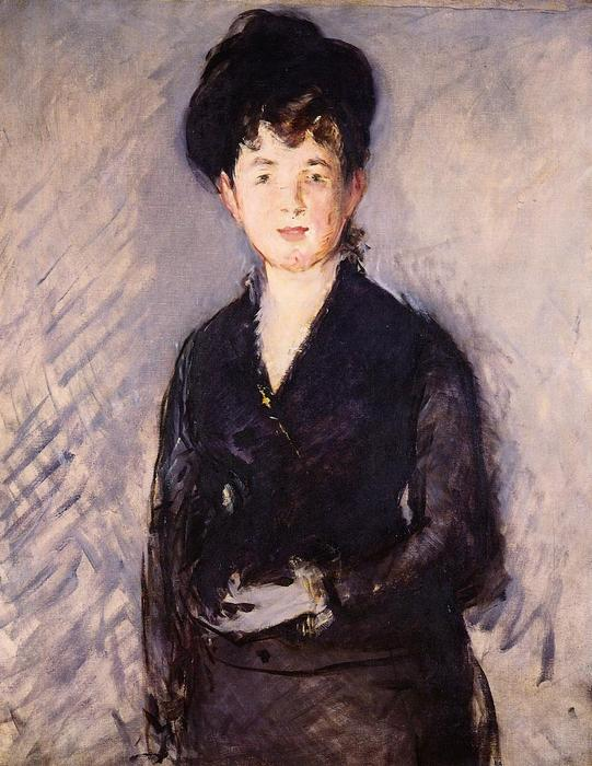 famous painting Woman with a gold pin of Edouard Manet