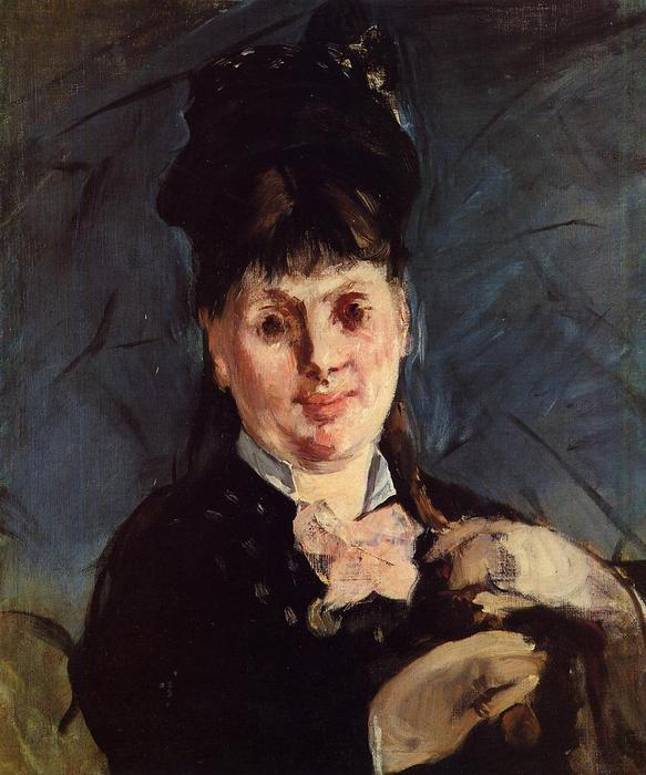 famous painting Woman with umbrella of Edouard Manet