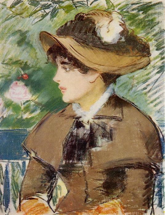 famous painting Young Girl on a Bench of Edouard Manet