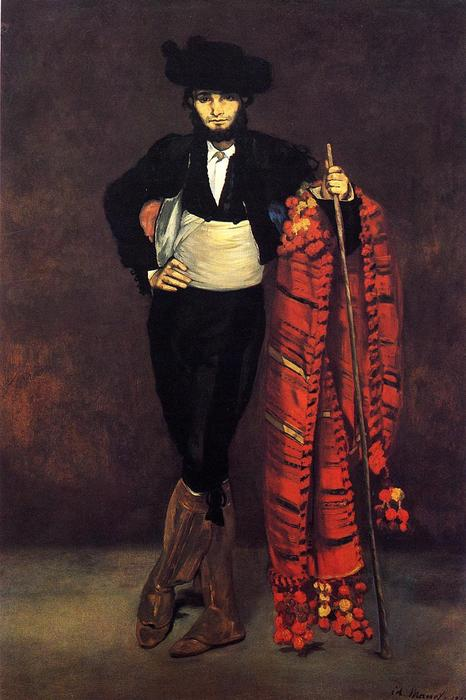 famous painting Young Man in the Costume of a Majo of Edouard Manet