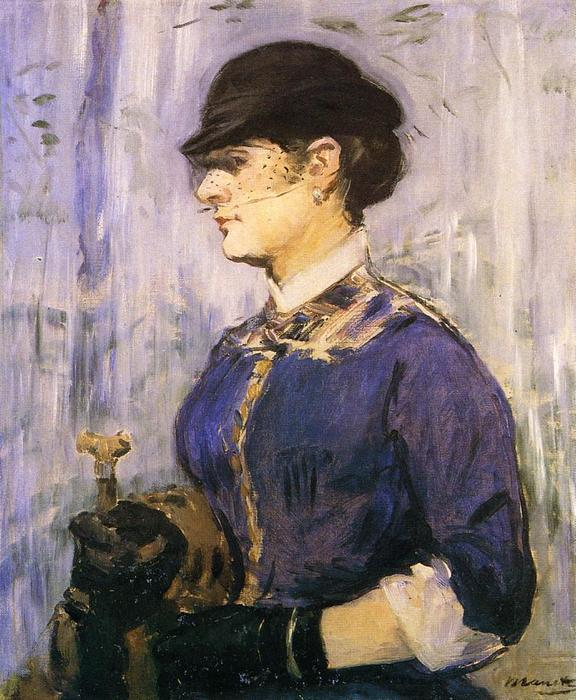 famous painting Young Woman in a Round Hat of Edouard Manet
