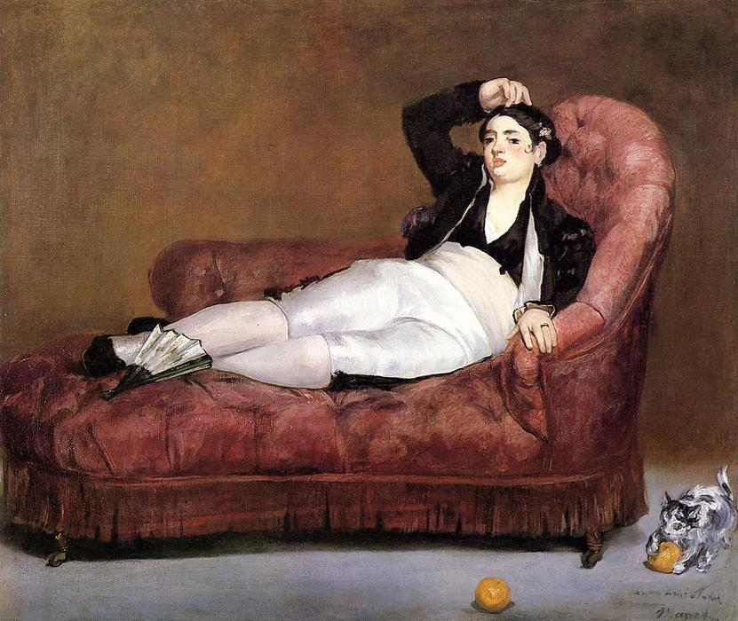 famous painting Young Woman Reclining of Edouard Manet