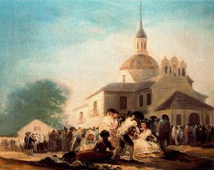 Francisco De Goya - The hemitage of St. Isodor on the day of a fiesta