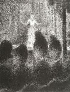 Georges Pierre Seurat - At the ''Concert Européen''