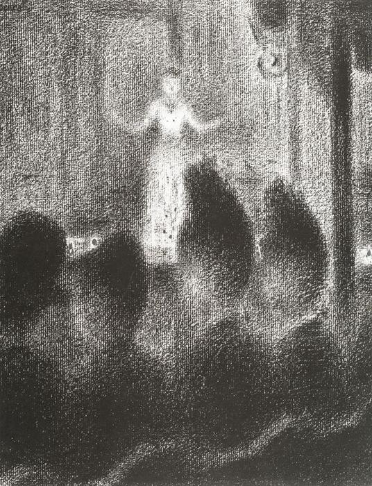famous painting At the ''Concert Européen'' of Georges Pierre Seurat