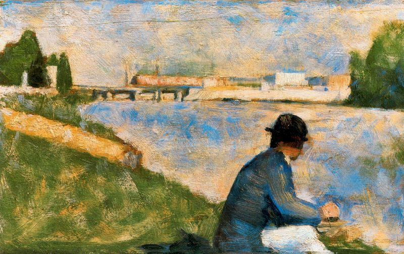famous painting Banks of the Seine at Suresnes of Georges Pierre Seurat