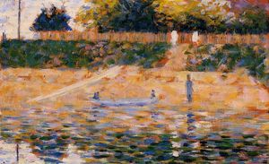 Georges Pierre Seurat - Boats Near The Beach At Asnieres