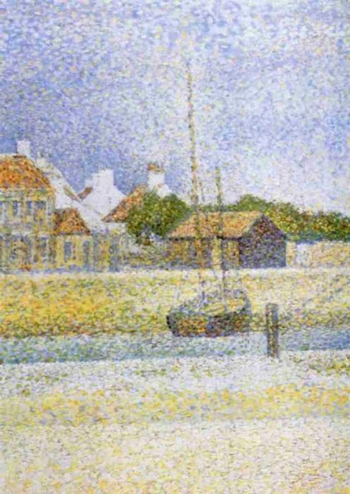 famous painting Canale di Gravelines Grand Fort Philippe of Georges Pierre Seurat