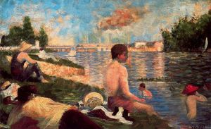 Georges Pierre Seurat - Final Study for Bathers, Asnières
