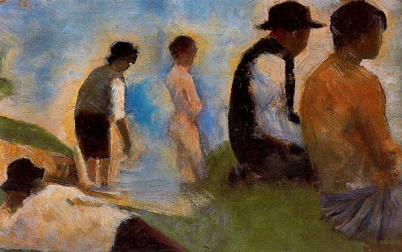 famous painting Five Men of Georges Pierre Seurat