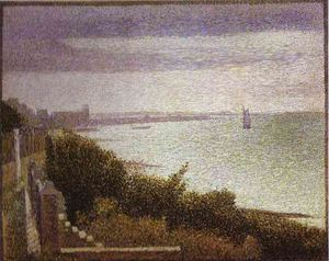 Georges Pierre Seurat - Grandcamp Evening