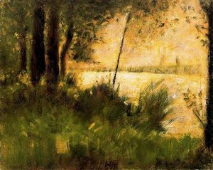 Georges Pierre Seurat - Grassy Riverbank