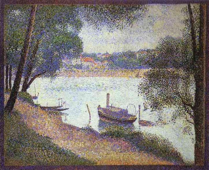 famous painting Gray Weather of Georges Pierre Seurat